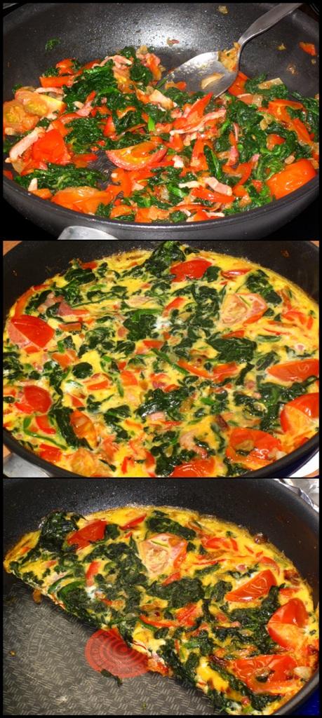 rezept omelettw rfel mit paprika und tomate cornelia. Black Bedroom Furniture Sets. Home Design Ideas
